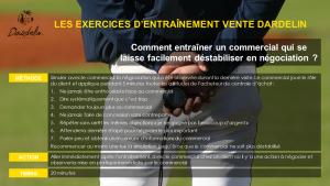 Exercice entraînement vente Négo
